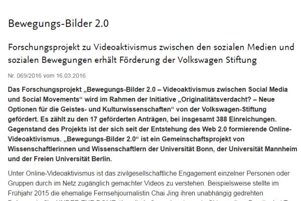 Pressemitteilung der FU Berlin