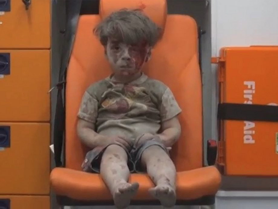 Omran in the ruins of Aleppo
